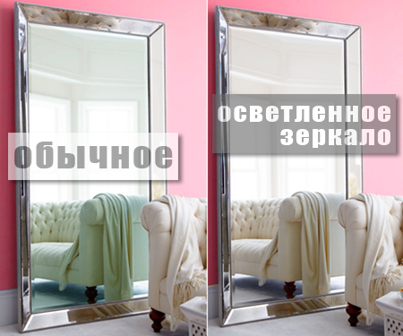 Осветленное зеркало