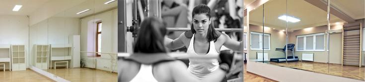 зеркало для спортзала