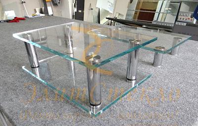 стеклянная мебель: столы